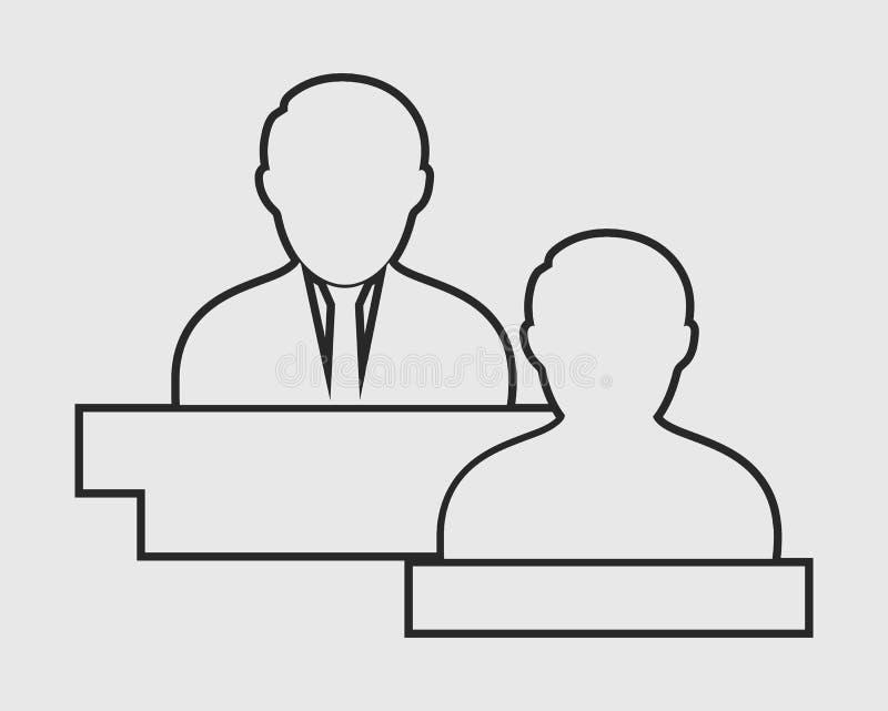 Linha de serviço ao cliente ícone ilustração do vetor