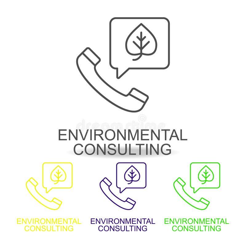 linha de serviço de consultadoria ícones da cor Elemento do ícone dos recursos humanos para apps móveis do conceito e da Web Linh ilustração royalty free