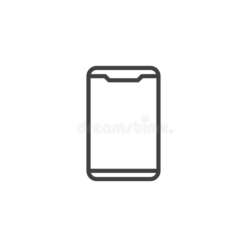 Linha de telefone celular moderna ícone ilustração royalty free