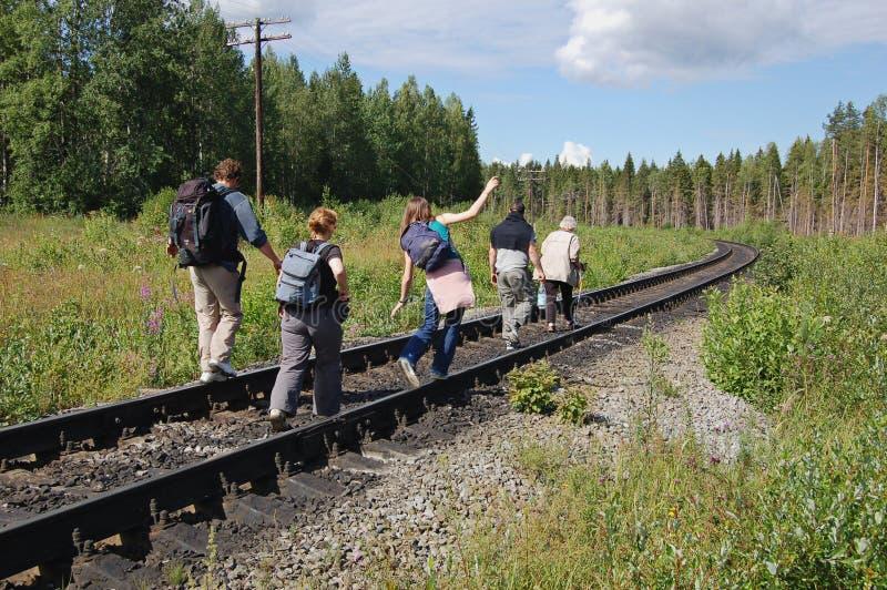 Linha de Trailway fotografia de stock