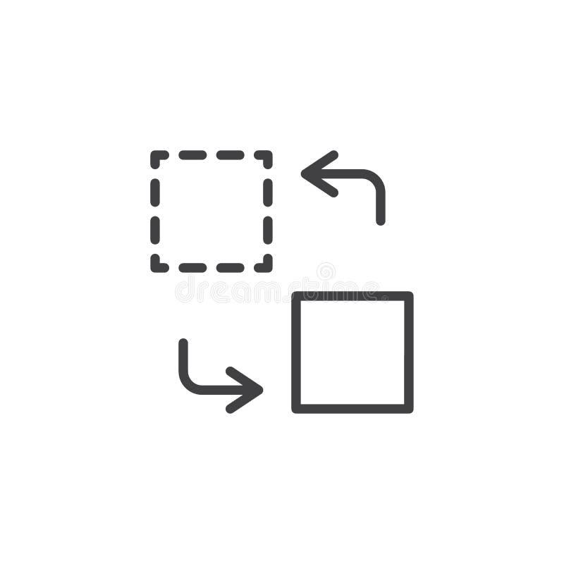 Linha de transferência ícone ilustração royalty free