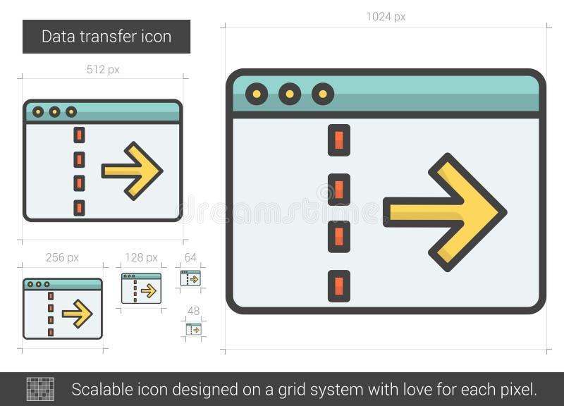 Linha de transferência ícone dos dados ilustração do vetor