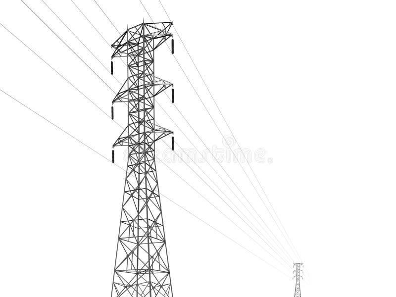 Linha de transmissão elétrica ilustração do vetor