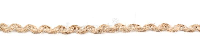 Linha de uma corda de linho da corda foto de stock royalty free