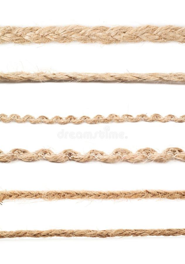 Linha de uma corda de linho da corda foto de stock