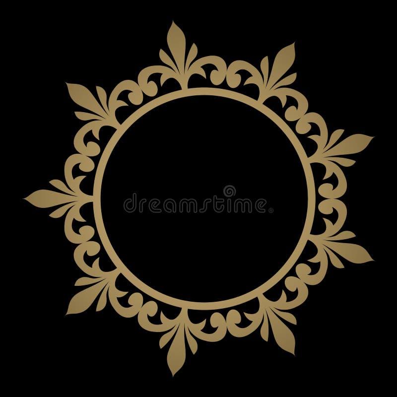 Linha decorativa quadro da arte para o molde do projeto EL elegante do vetor ilustração royalty free
