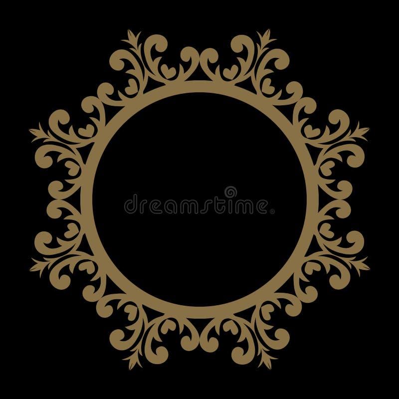 Linha decorativa quadro da arte para o molde do projeto EL elegante do vetor ilustração stock