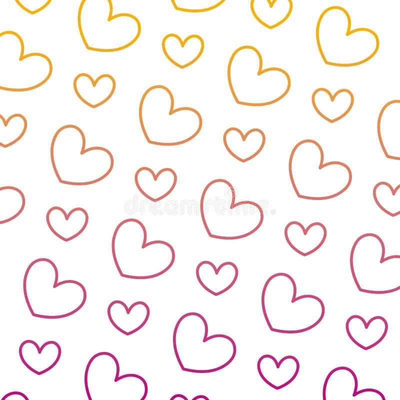 Linha degradada fundo do símbolo do amor do coração da beleza ilustração stock