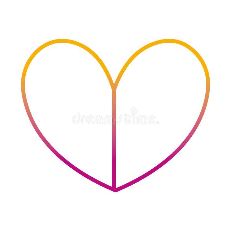 Linha degradada projeto do símbolo do amor do coração da beleza ilustração royalty free