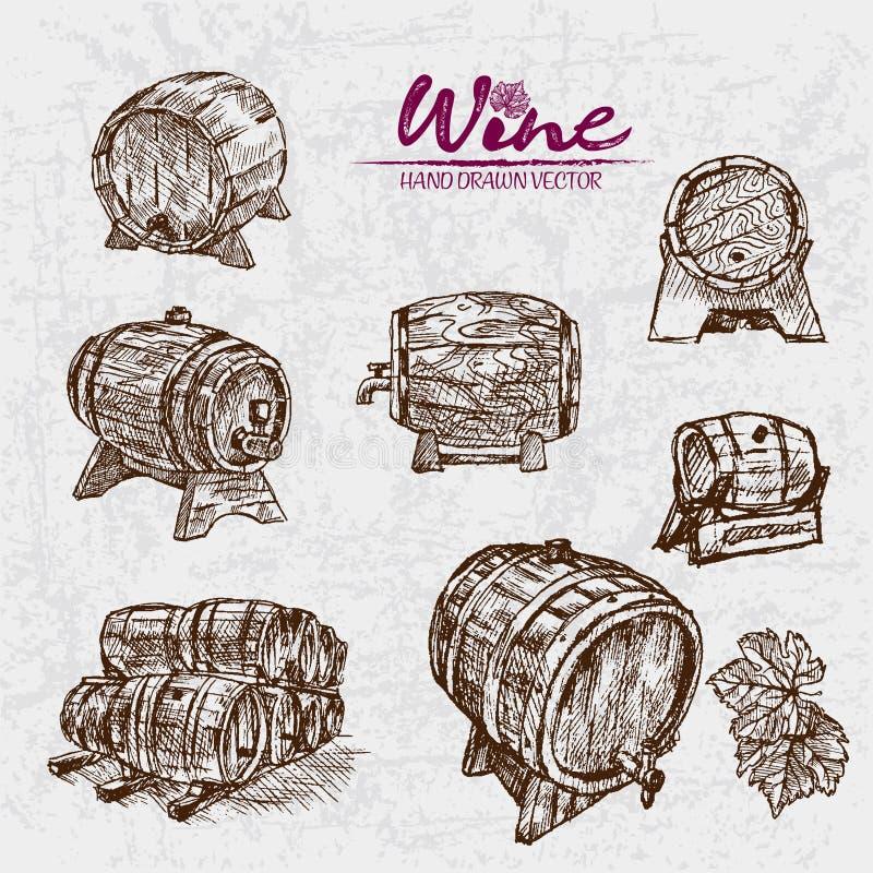 Linha detalhada vinho da cor de Digitas da arte ilustração royalty free