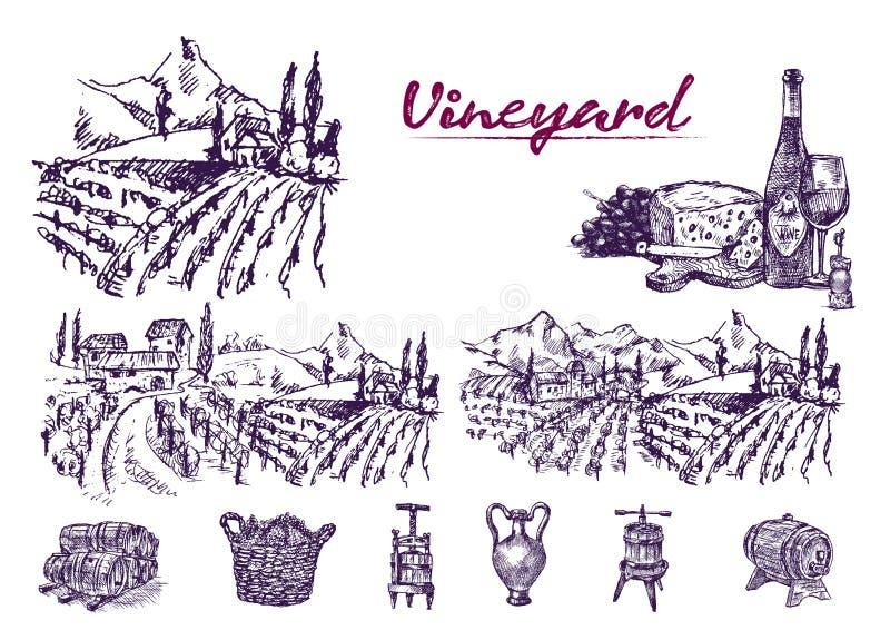 Linha detalhada vintage da cor de Digitas da arte ilustração do vetor