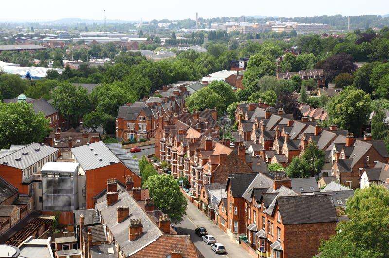 Linha do céu de Nottingham fotografia de stock