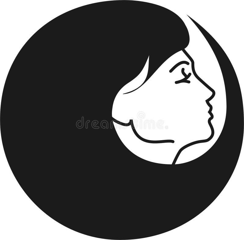 Linha do cabelo ilustração royalty free