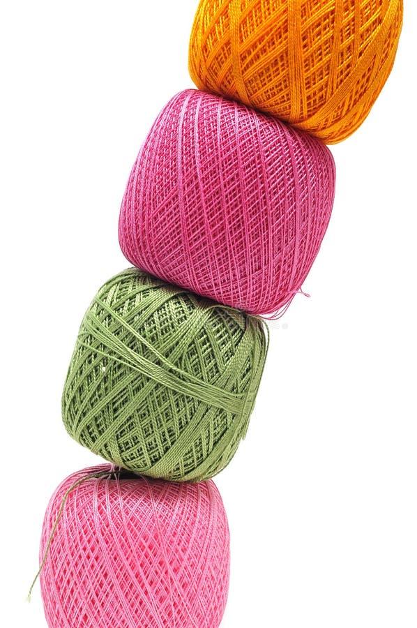 Linha do Crochet imagem de stock royalty free