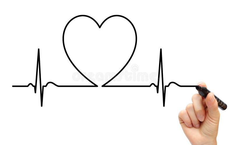 Linha do desenho ECG imagens de stock