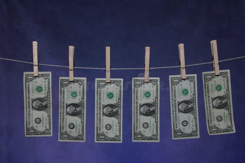 Linha do dinheiro fotos de stock