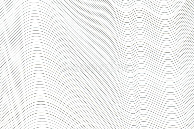 Linha do fundo, curva & teste padrão de onda conceptuais geométricos para o projeto Contexto, gráfico, forma & arte ilustração do vetor