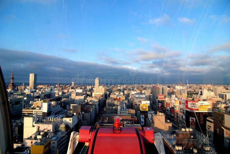 Linha do horizonte no Hokkaido Japão fotos de stock