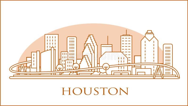 Linha do horizonte urbano de Houston Texas EUA imagens de stock royalty free