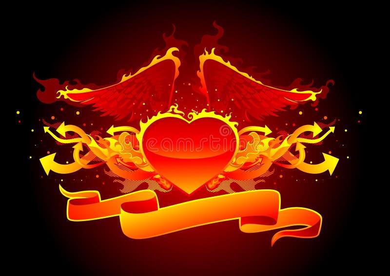 Linha do incêndio e das setas ilustração stock