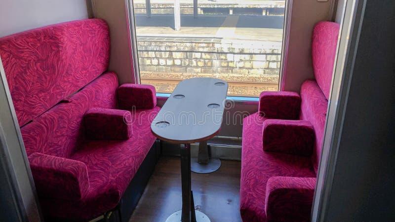 Linha do leste trem sightseeing de Gono da estrada de ferro de Japão de Shirakami do recurso na estação de Akita fotografia de stock