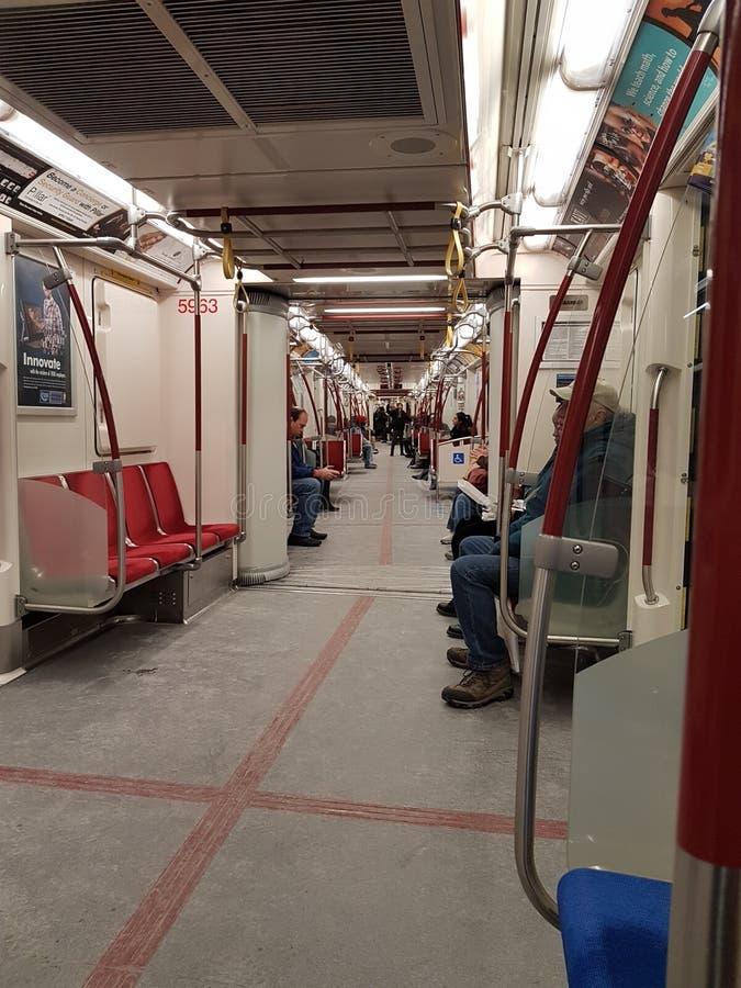Linha 1 do metro de TTC imagem de stock