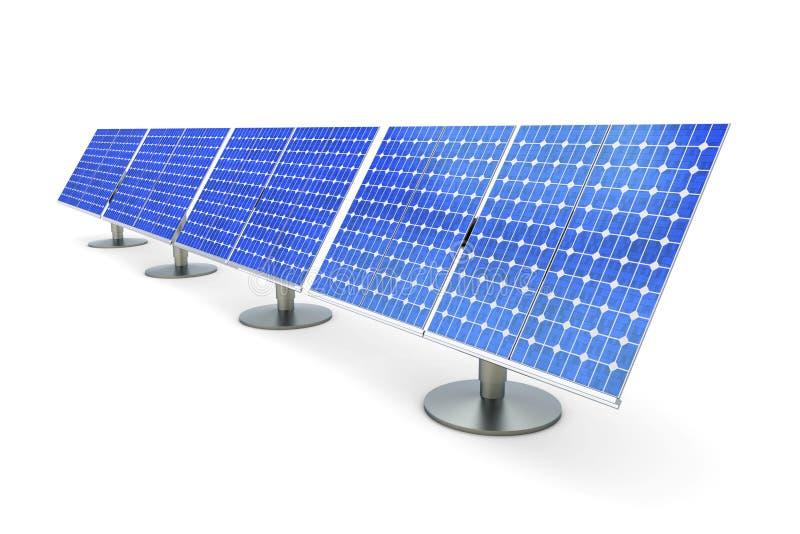 Linha do painel solar ilustração royalty free