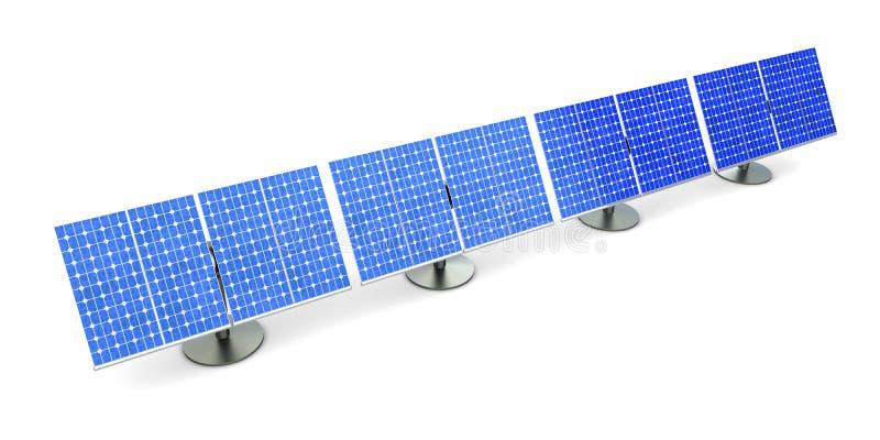 Linha do painel solar ilustração do vetor