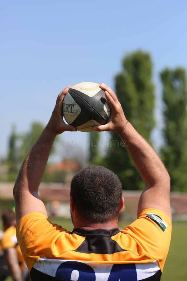 Linha do rugby para fora fotografia de stock royalty free