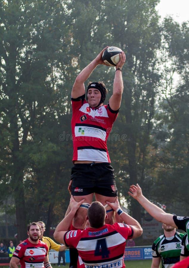 Linha do rugby para fora fotos de stock