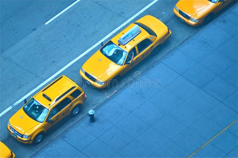 Linha do táxi fotografia de stock