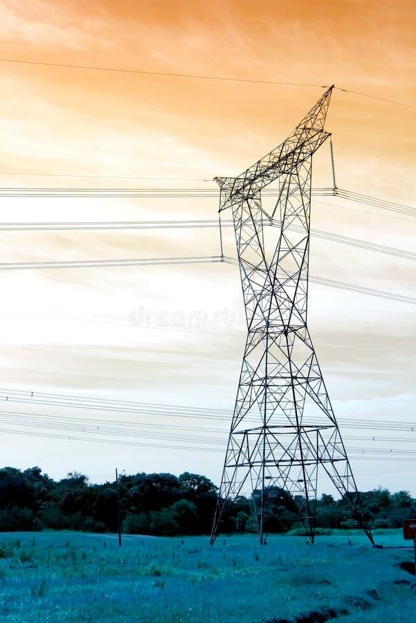 Linha eléctrica imagem de stock