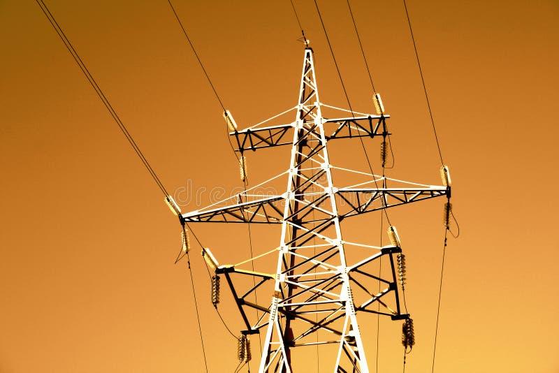 Linha Eléctrica Fotografia de Stock Royalty Free