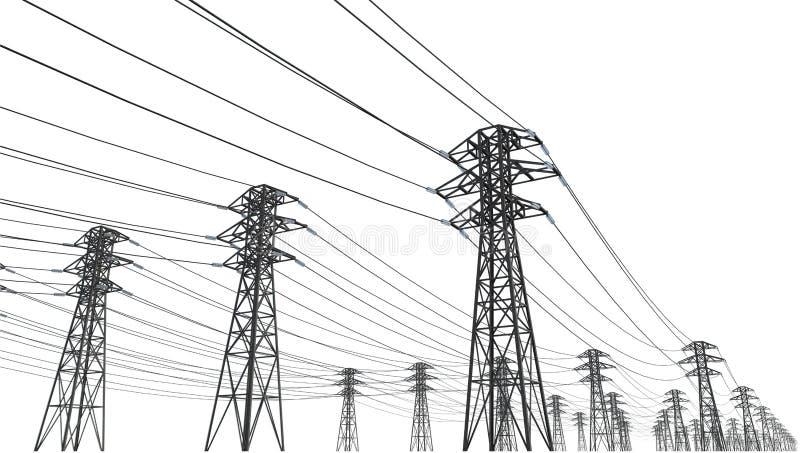 Linha eléctrica ilustração do vetor