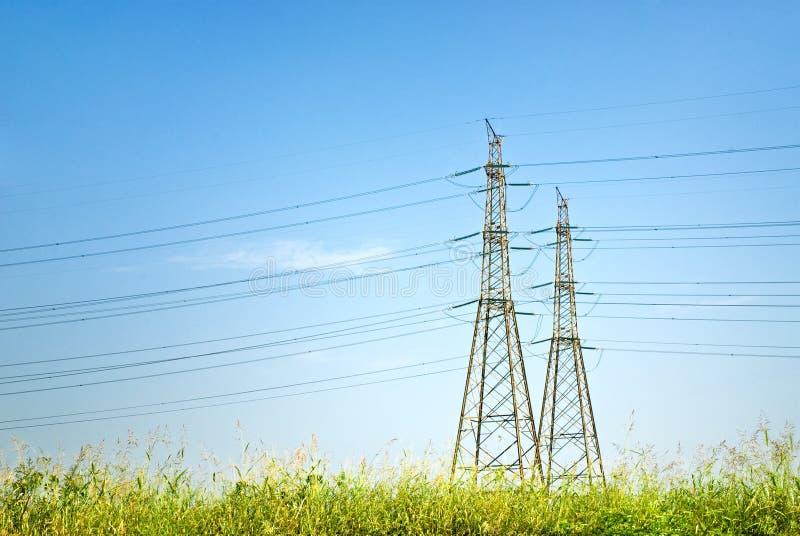 Linha eléctrica foto de stock