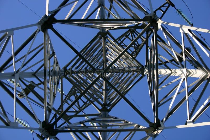 Linha eléctrica, detalhada foto de stock