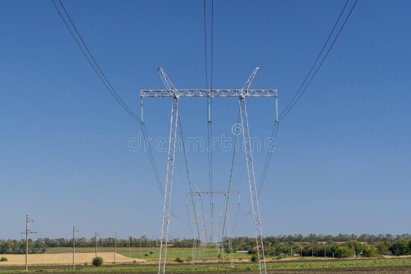 Linha eléctrica elétrica imagens de stock