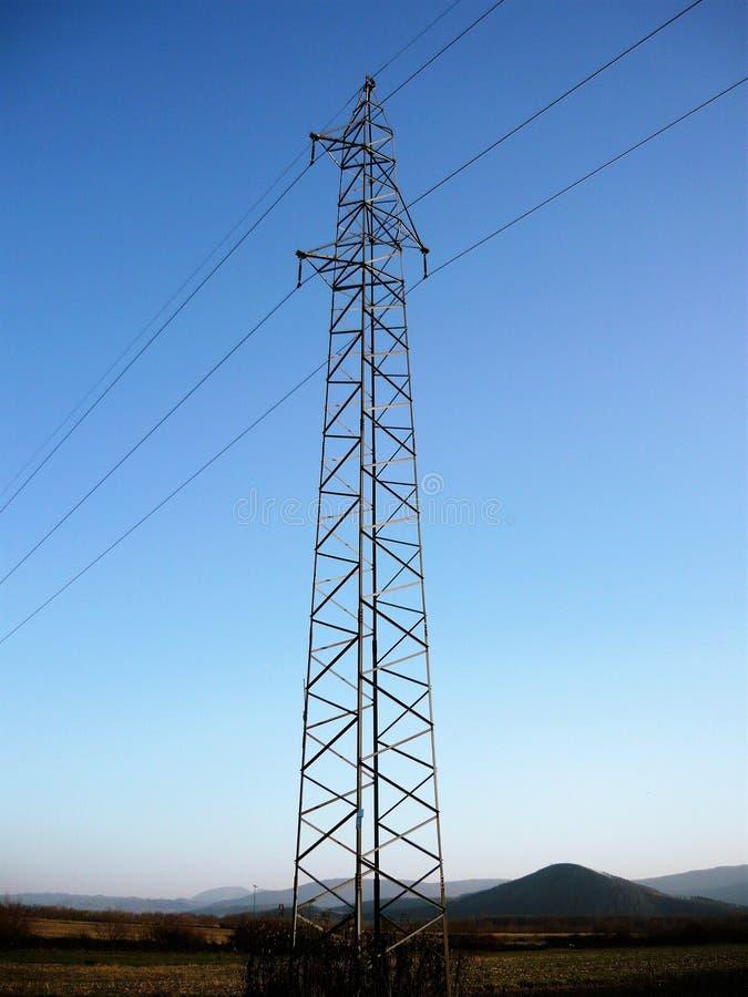 Linha eléctrica elétrica foto de stock