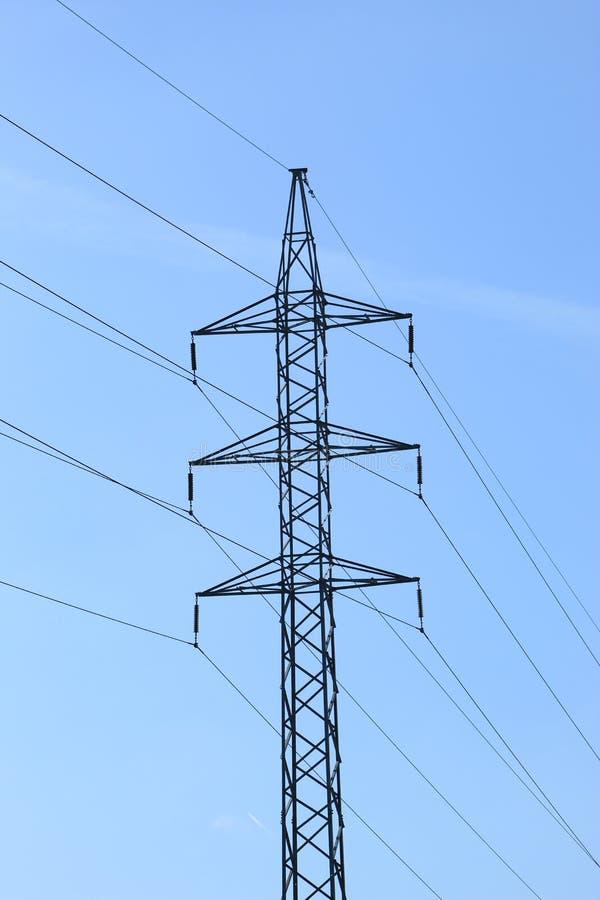 Linha elétrica em Pontevedra fotografia de stock royalty free