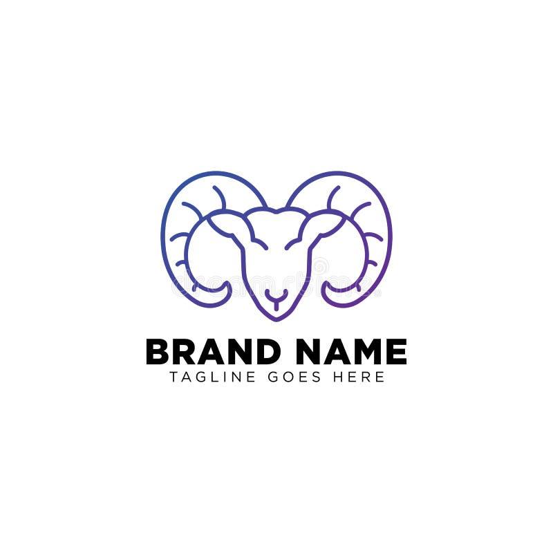 a linha elemento do logotipo das ovelhas negras do ícone do vetor do projeto isolou-se ilustração stock