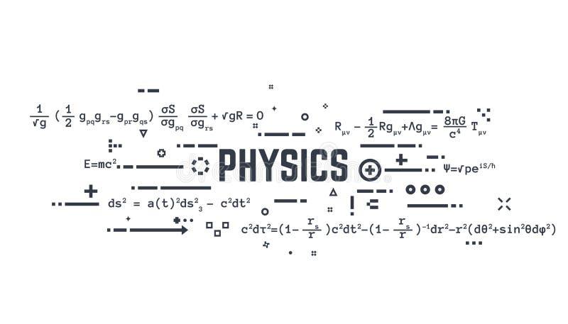 Linha equações da física ilustração stock