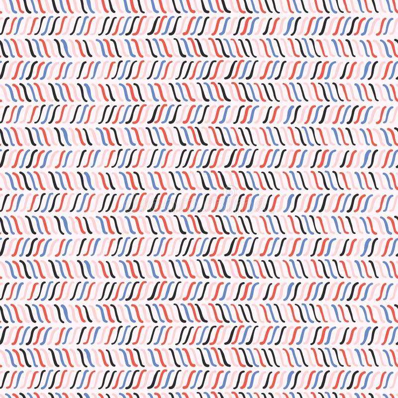 A linha esboçado na moda marca o teste padrão sem emenda do vetor ilustração stock