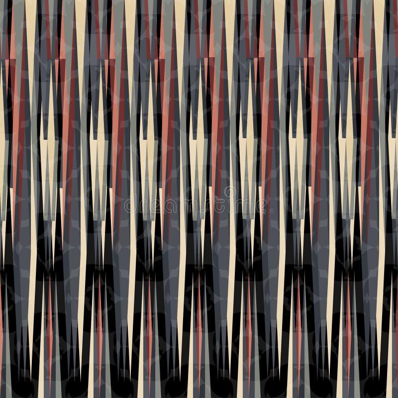 Linha escura bonita na ilustração geométrica do vetor do fundo do sumário retro do estilo ilustração stock