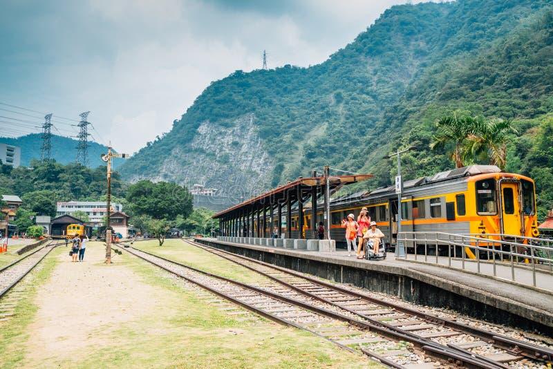Linha estação de trem de Jiji de Checheng em Nantou, Taiwan fotos de stock