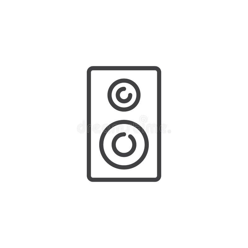 Linha estereofônica ícone dos altifalante ilustração do vetor