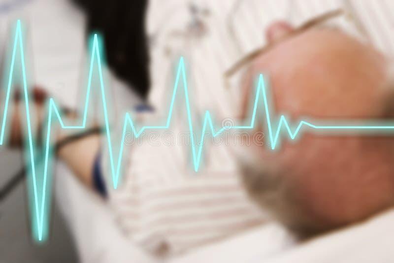 Linha extremidade do batimento cardíaco de vida fotografia de stock royalty free