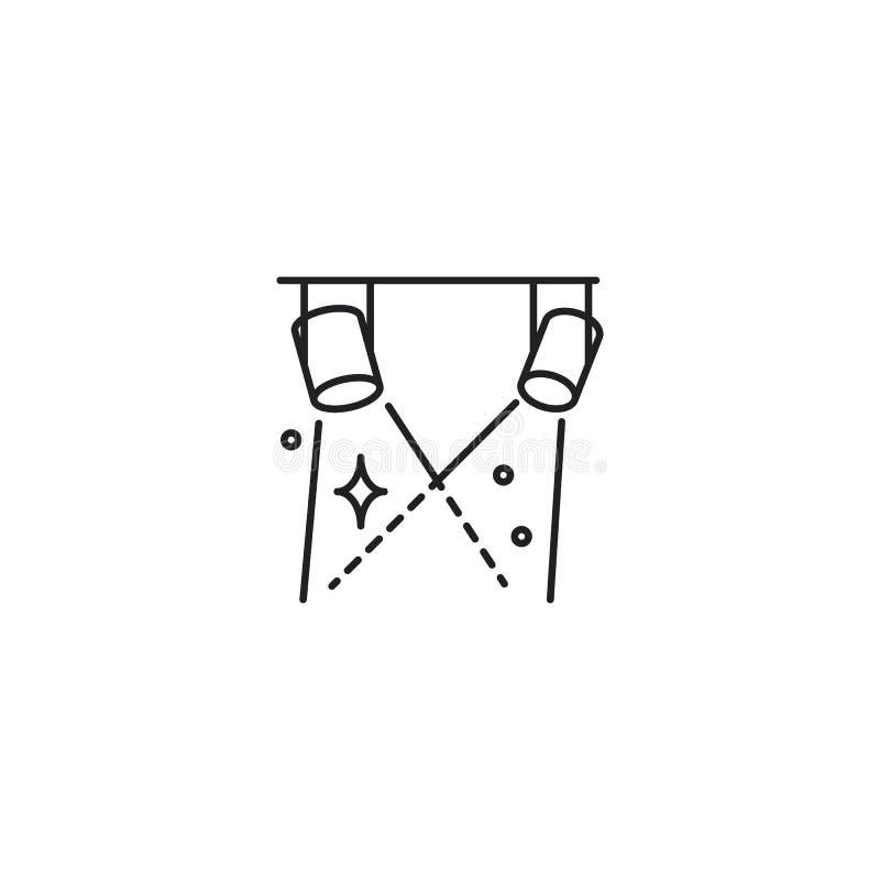 A linha fase ilumina o ícone no fundo branco ilustração stock
