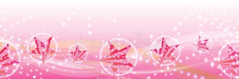 Linha feminino bandeira da listra lateral da estrela do vento ilustração royalty free