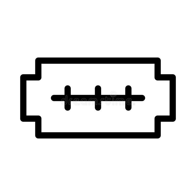 Linha fina ícone da barbeação do vetor ilustração stock