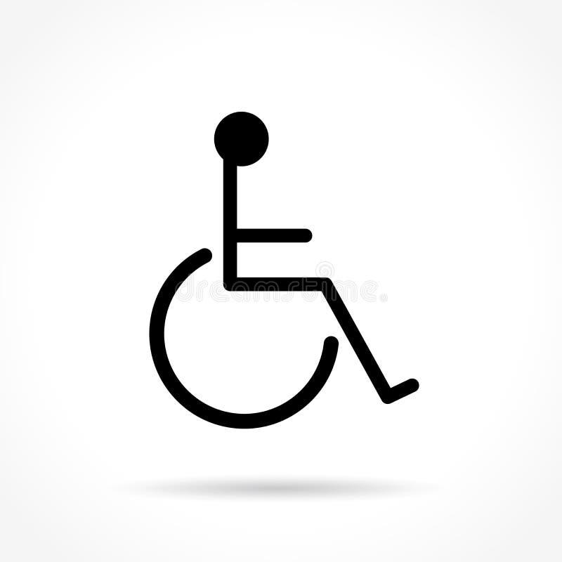 Linha fina ícone da cadeira de rodas ilustração do vetor